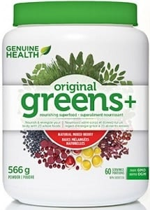 Genuine Health greens+ - Natural Mixed Berry (566g)