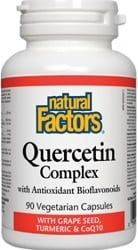 Natural Factors Quercetin Complex With Antioxidant Bioflavonoids (90 Vegetarian Capsules)