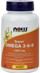 Now Super Omega 3-6-9 1,200mg (180 Softgels)